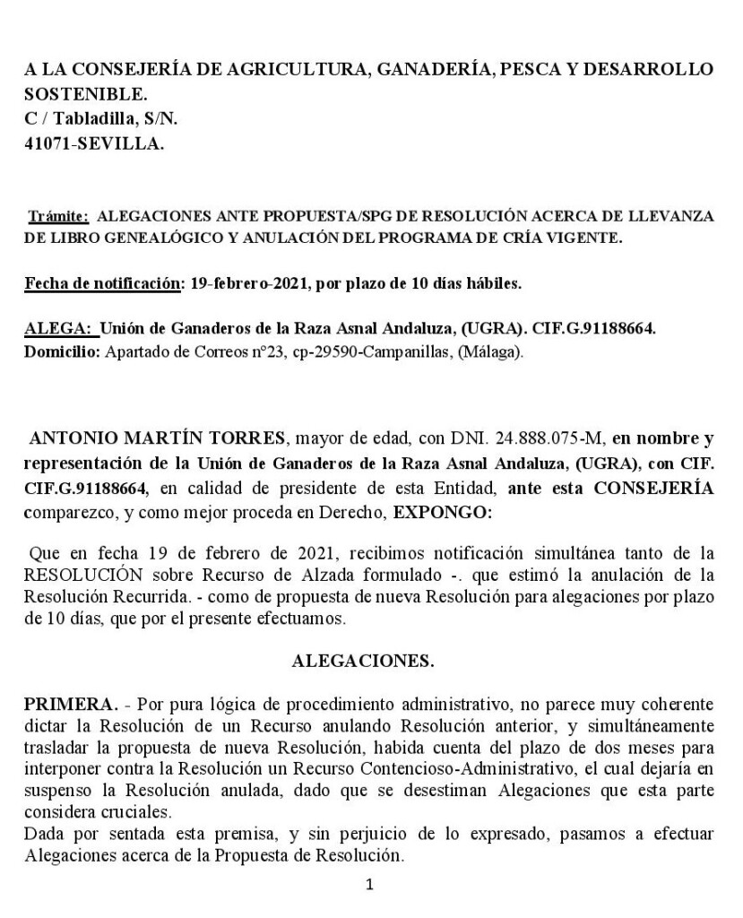 ALEGACIONES DE UGRA A LA JUNTA DE ANDALUCIA-page-001